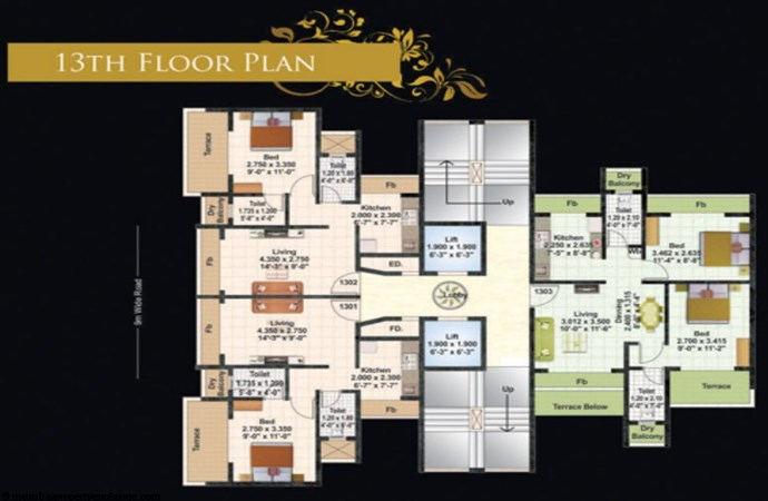 Juhi Lawns 13th Flr Plan