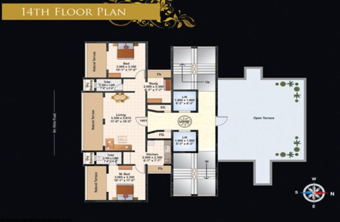 Juhi Lawns 14th Flr Plan