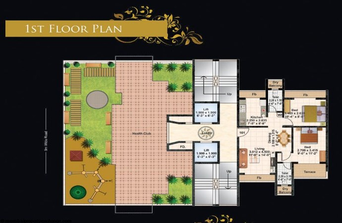 Juhi Lawns 1st Flr Plan