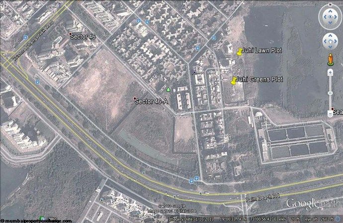 Juhi Lawns Google Earth