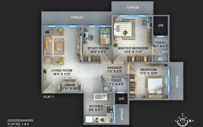 Ortenzia Floor Plan