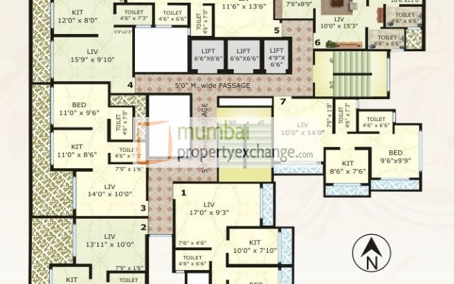 Vinay Unique Corner Floor Plan