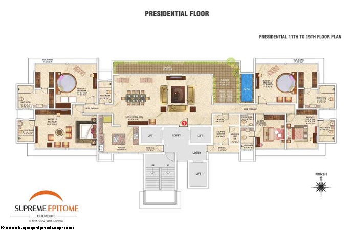 Supreme Epitome 11th To 19th Floor Plan