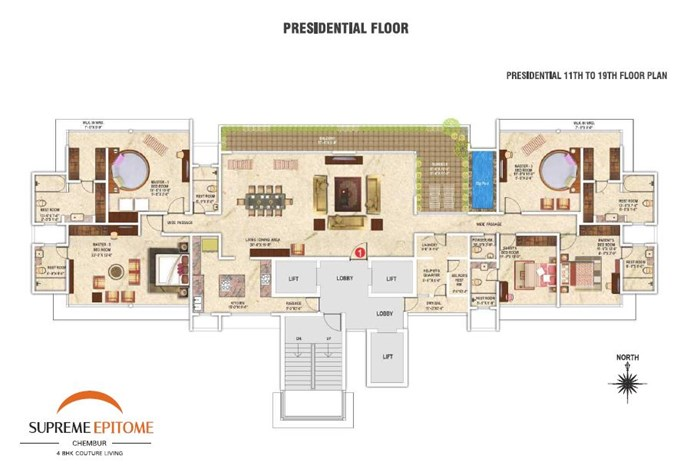 11th To 19th Floor Plan