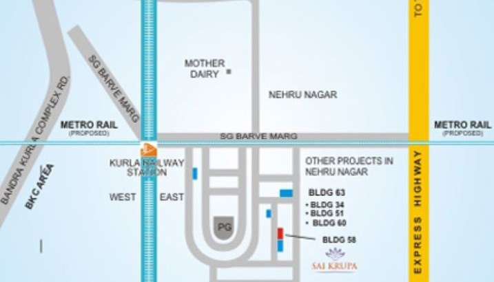 Sai Krupa Location Plan