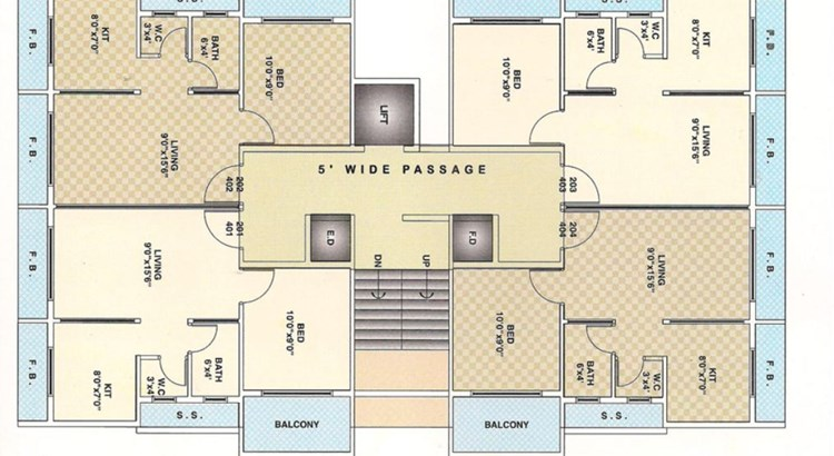 Elite Residency Floor Plan