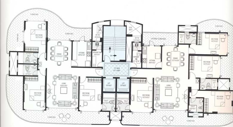 RNA Auroville 12 th floor plan