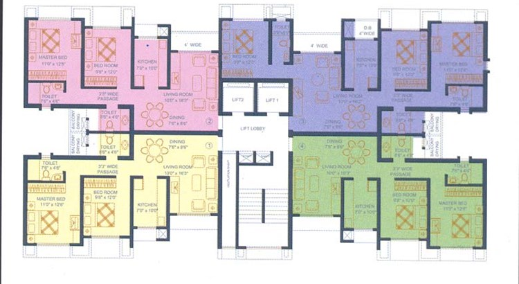 Runwal Pride B wing Floor Plan