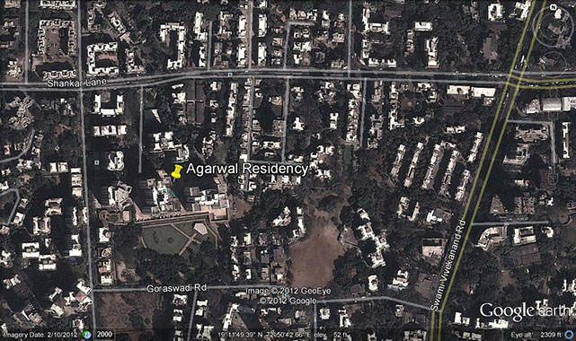 Agarwal Residency Google Earth
