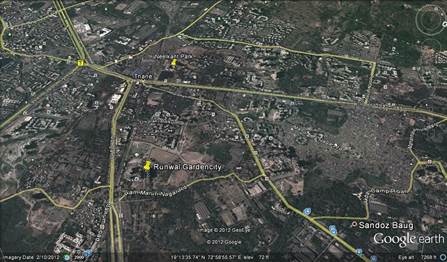 Runwal Garden City Google Earth