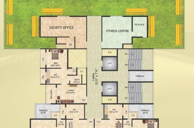 Krishna Tower Floor Plan