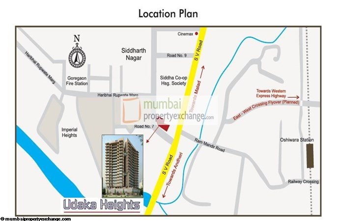 Udaka Heights Location Map