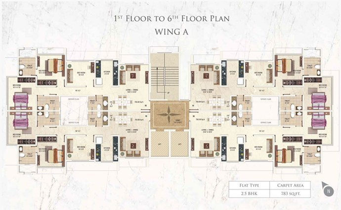 A wing 1-6th Floor