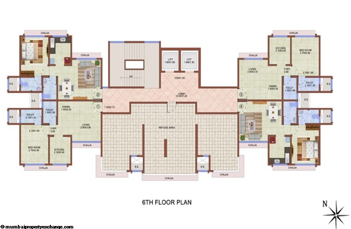Vijay Lenyadri 6th Floor Plan