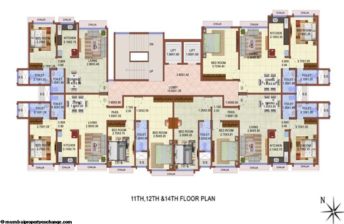 Vijay Lenyadri 11th, 12th & 14th Floor Plan