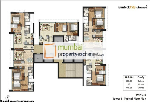 Sunteck City Avenue  Floor Plan