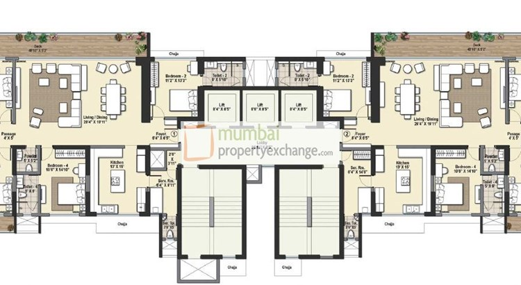 Raheja Reflections Floor Plan