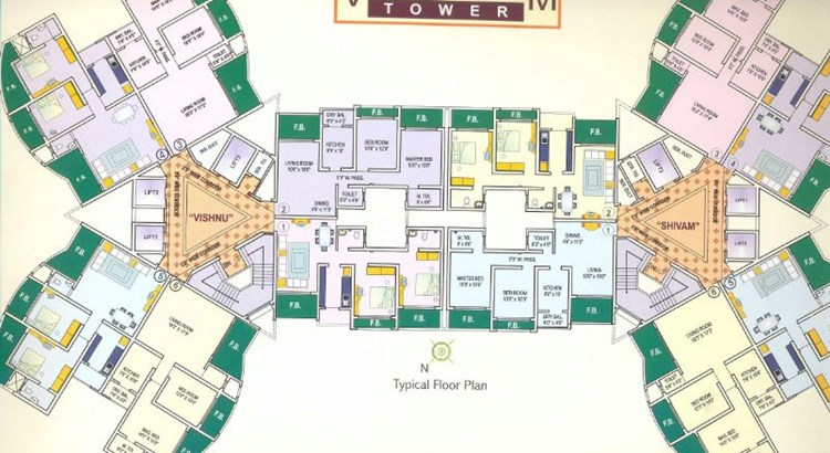 Vishnu Shivam Tower floor plan
