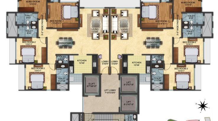 Pashmina Lotus Floor Plan