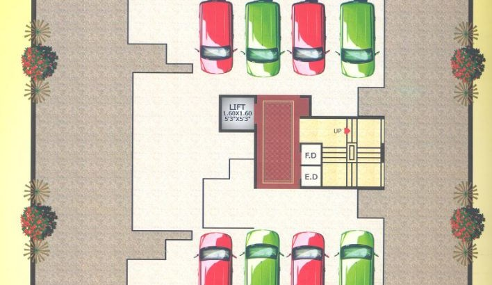 Bright Gold Floor Plan
