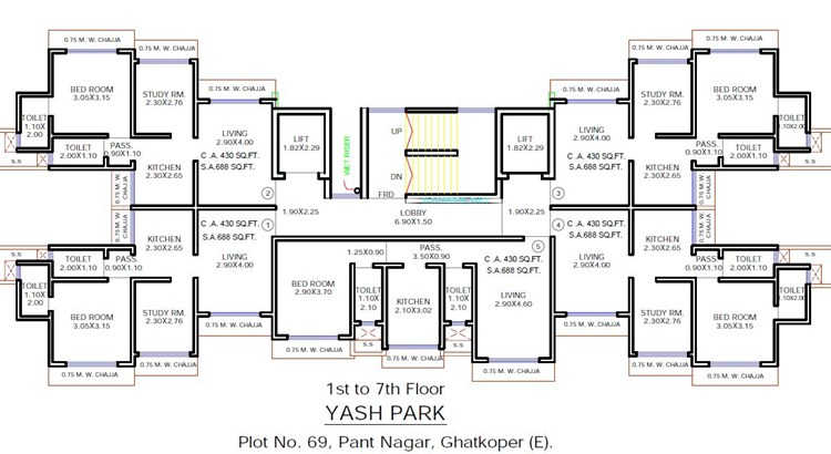 Yash Park Floor Plan