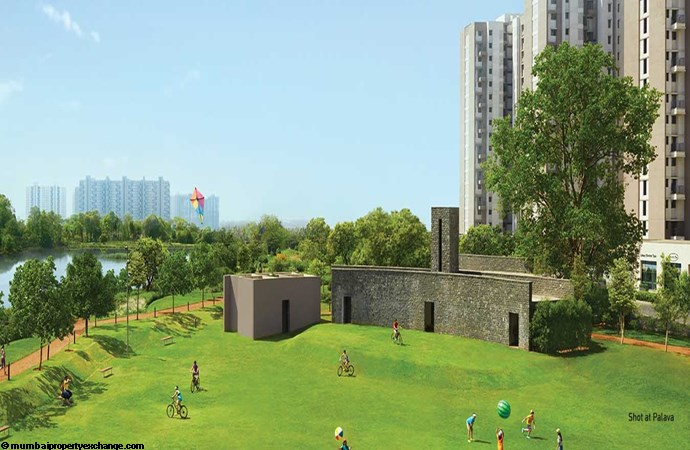 Lodha Lakeshore Greens 8.8 Acres of landscape lake side park