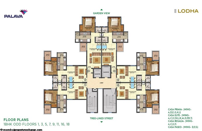 Lodha Lakeshore Greens Lodha Lakeshore Greens 1BHK Floor Plan Odd