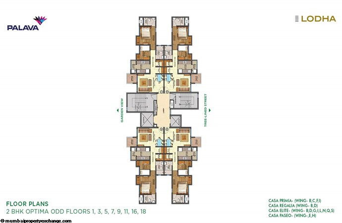 Lodha Lakeshore Greens Lodha Lakeshore Greens 2BHK Floor Plan Odd