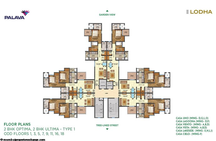 Lodha Lakeshore Greens Lodha Lakeshore Greens 2BHK Optima-Ultima Type 1Floor Plan