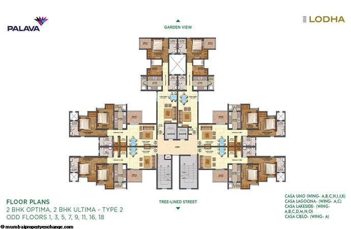 Lodha Lakeshore Greens Lodha Lakeshore Greens 2BHK Optima-Ultima Type 2 Floor Plan
