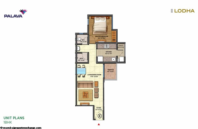 Lodha Lakeshore Greens Lodha Lakeshore Greens Unit-plan-1BHK-3