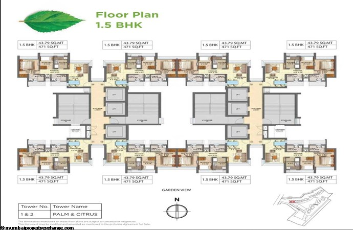Runwal Forests Runwal Forests 1.5BHK Flrpln For Tower 1-2