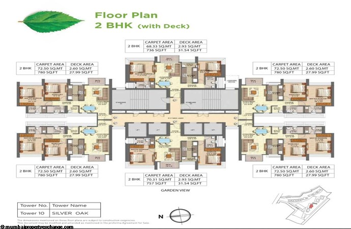 Runwal Forests Runwal Forests 2BHK Flrpln For Tower 10