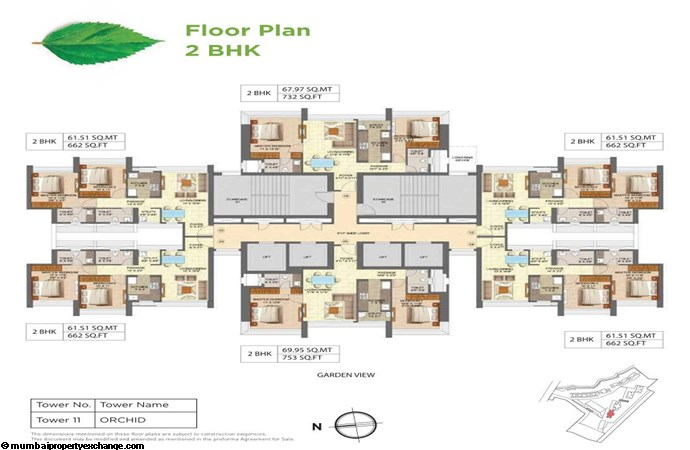 Runwal Forests Runwal Forests 2BHK Flrpln For Tower 11