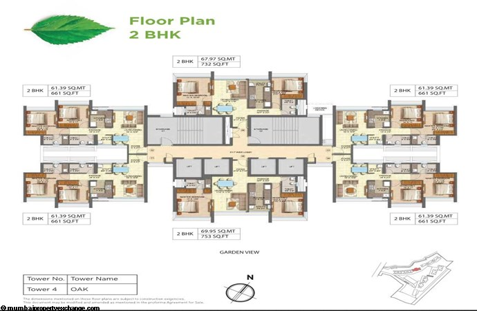 Runwal Forests Runwal Forests 2BHK Flrpln For Tower 4