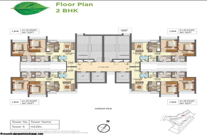 Runwal Forests Runwal Forests 2BHK Flrpln For Tower 5