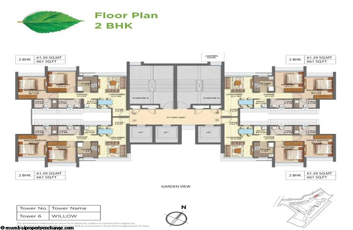 Runwal Forests Runwal Forests 2BHK Flrpln For Tower 6