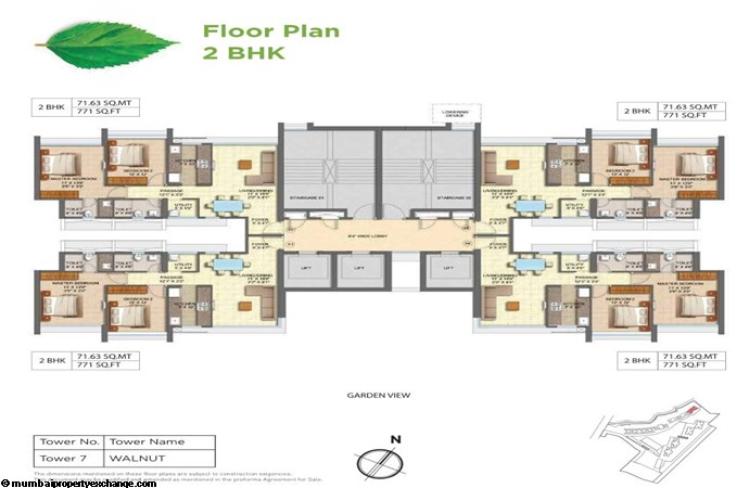Runwal Forests Runwal Forests 2BHK Flrpln For Tower 7