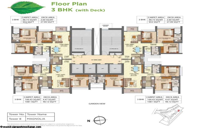 Runwal Forests Runwal Forests 2BHK Flrpln For Tower 8