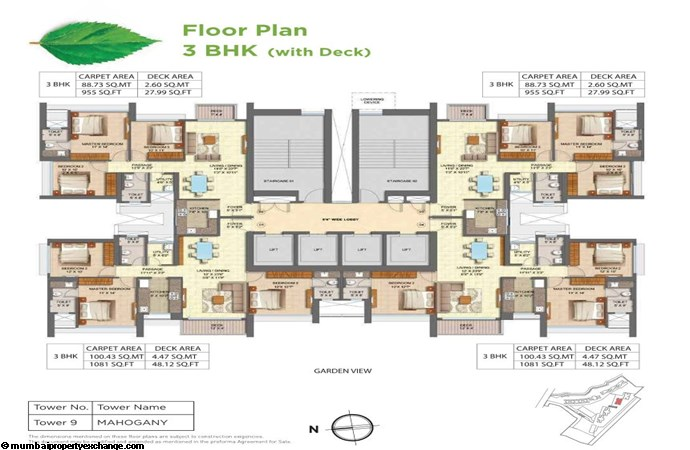 Runwal Forests Runwal Forests 3BHK Flrpln For Tower 9