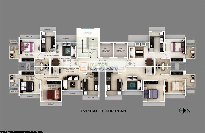 Srishti Solitaire Typical Floor Plan
