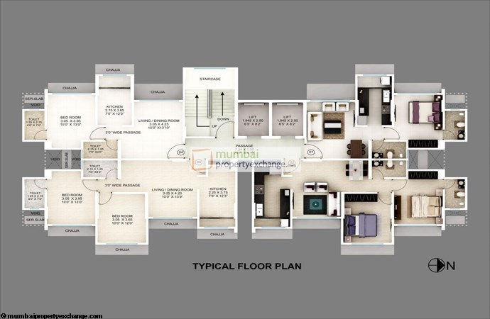 Srishti Solitaire Typical Floor Plan 2