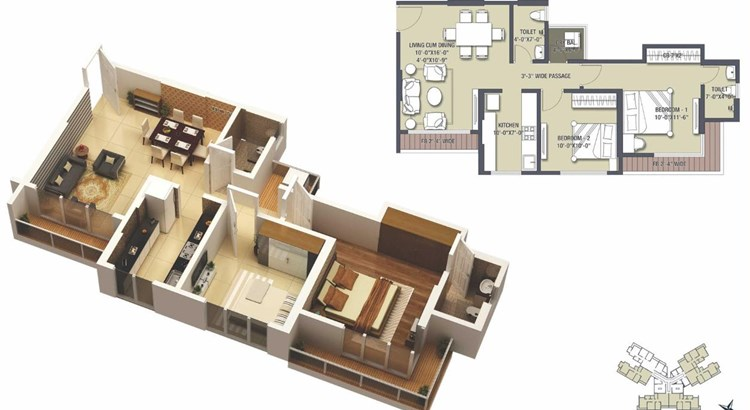Satguru Solitaire Floor Plan
