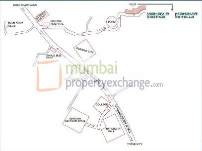Mahavir Exotica Location Plan