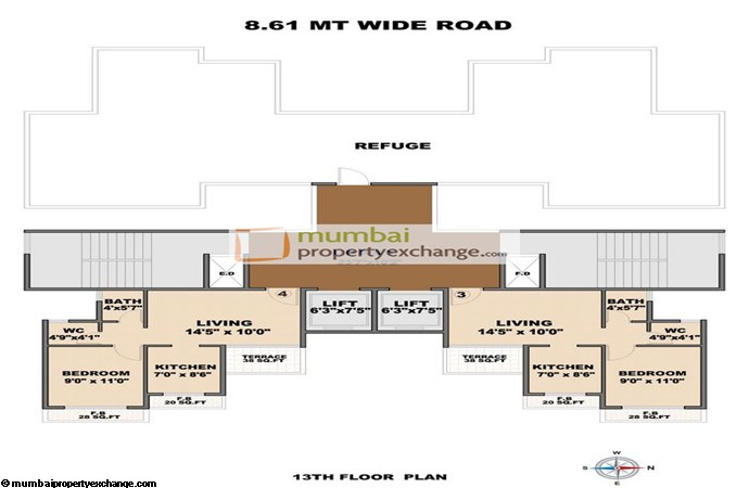 Mahaavir Heights Floor Plan