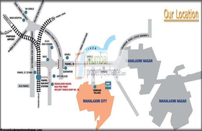 Mahalaxmi Aangan Location Map