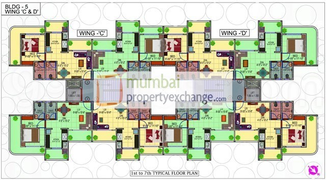 Dipti Sky City Floor Plan