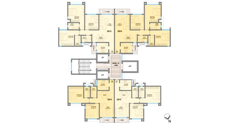 Luxe Tower Floor Plan