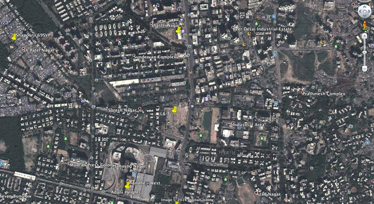 L&T Andheri Google Map Location