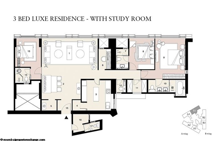 Lodha Trump Tower Lodha Trump Tower 3BHK Luxe with study